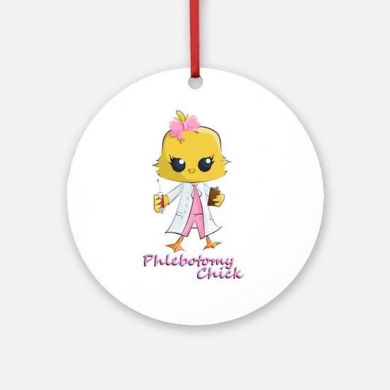 Phlebotomy Chick (round) Round Ornament