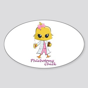 Phlebotomy Chick Sticker (Oval)