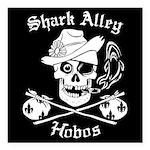 "Shark Alley Hobos Square Car Magnet 3"" X 3&qu"