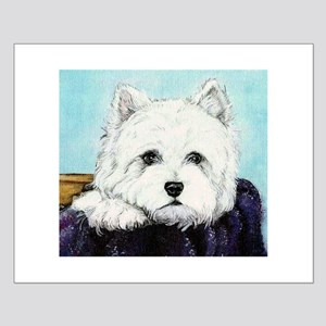 Basket Case Westie Small Poster