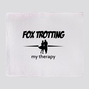 Fox Trotting my therapy Throw Blanket