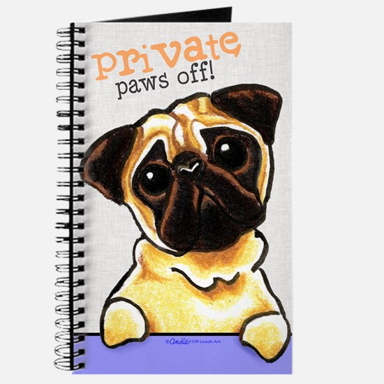 Pug Private PAWS OFF Journal