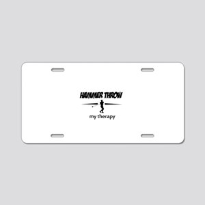 Hammer Throw my therapy Aluminum License Plate