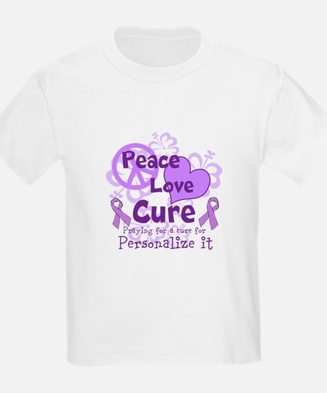 Purple Peace Love Cure T-Shirt