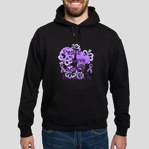 Purple Peace Love Cure Hoodie