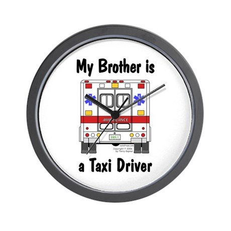 Taxi Driver Brother Wall Clock