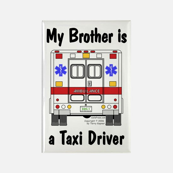 Taxi Driver Brother Rectangle Magnet