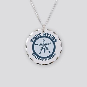 Fort Myers - Sand Dollar Design. Necklace Circle C