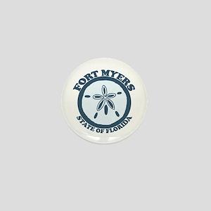 Fort Myers - Sand Dollar Design. Mini Button