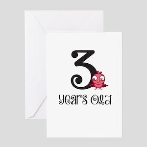 3 Years Old Baby Bird Greeting Card