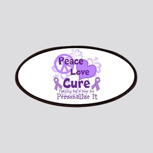 Purple Peace Love Cure Patches