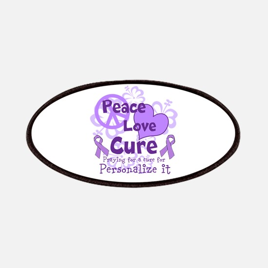 Purple Peace Love Cure Patches