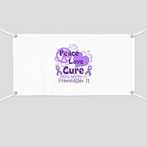 Purple Peace Love Cure Banner