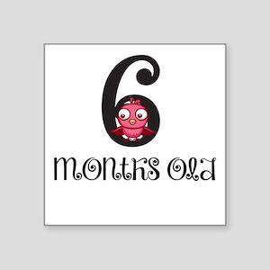 6 Months Old Birdie Baby Milestone Sticker