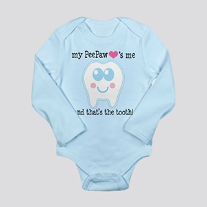 PeePaw Loves Me Long Sleeve Infant Bodysuit