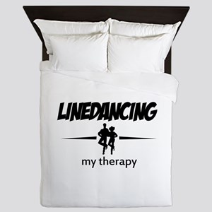 Linedancing my therapy Queen Duvet