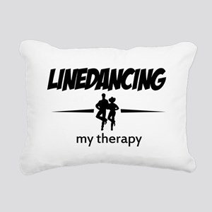 Linedancing my therapy Rectangular Canvas Pillow