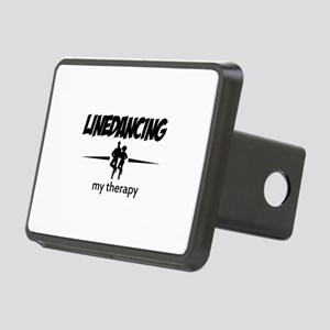 Linedancing my therapy Rectangular Hitch Cover