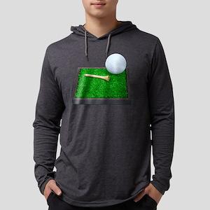 GolfBallTeeLayingOnGrass102111.p Mens Hooded Shirt