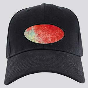 VINTAGE WALL DISTRESSED Black Cap with Patch