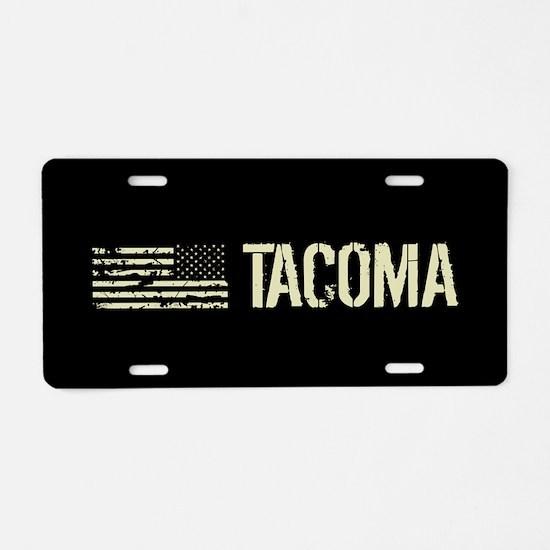 Black Flag: Tacoma Aluminum License Plate