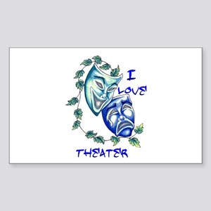 Ilove Theater Rectangle Sticker