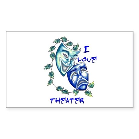 Ilove Theater Rectangle Sticker