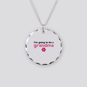 I'm going to be a grandma Necklace Circle Charm