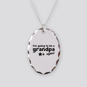 I'm going to be a grandpa again Necklace Oval Char