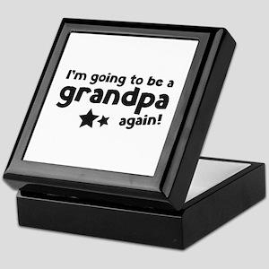 I'm going to be a grandpa again Keepsake Box