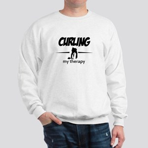 Curling my therapy Sweatshirt