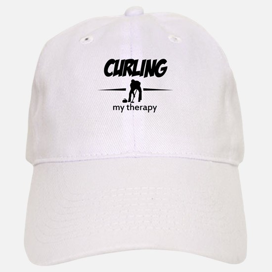 Curling my therapy Baseball Baseball Cap