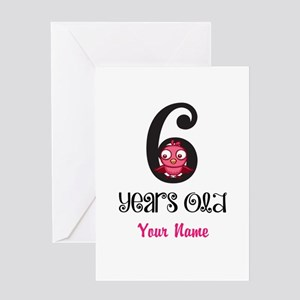 6 Years Old Baby Bird - Personalized! Greeting Car