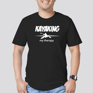 Kayaking my therapy Men's Fitted T-Shirt (dark)