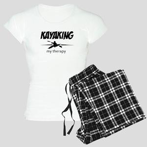 Kayaking my therapy Women's Light Pajamas