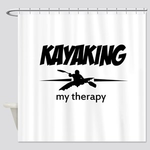 Kayaking my therapy Shower Curtain