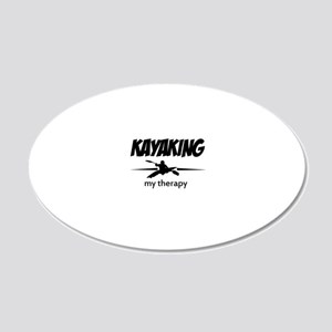 Kayaking my therapy 20x12 Oval Wall Decal