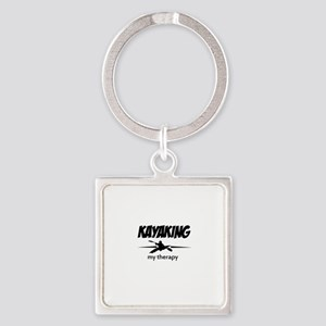 Kayaking my therapy Square Keychain