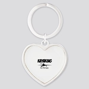 Kayaking my therapy Heart Keychain