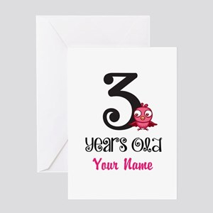 3 Years Old Baby Bird - Personalized Greeting Card