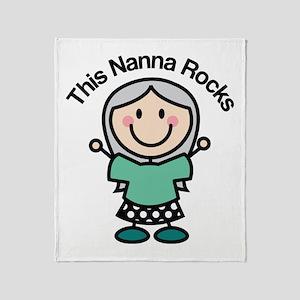 Nanna Rocks Throw Blanket