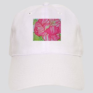 Hibiscus in Lilly Pulitzer Baseball Cap