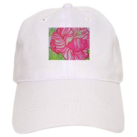 319a92d6669 Hibiscus in Lilly Pulitzer Baseball Baseball Cap by ItsAboutTeeTime
