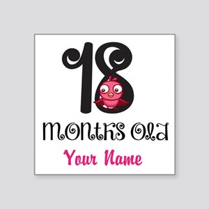 18 Months Old Baby Bird - Personalized Sticker