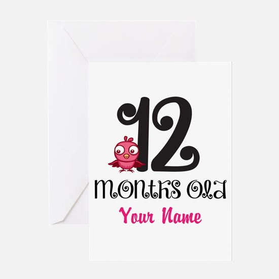 12 Months Old Baby Bird - Personalized Greeting Ca