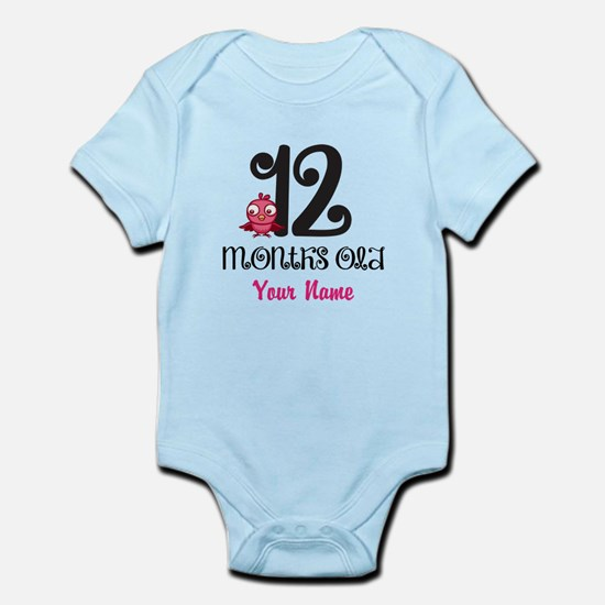 12 Months Old Baby Bird - Personalized Body Suit