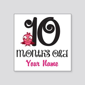 10 Months Old Baby Bird - Personalized Sticker