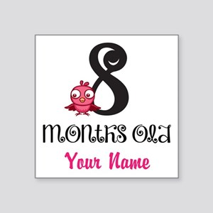 8 Months Old Baby Bird - Personalized Sticker