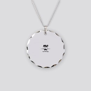Polo my therapy Necklace Circle Charm