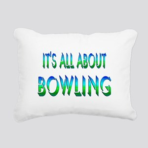 About Bowling Rectangular Canvas Pillow